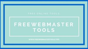 Free Webmaster Tools